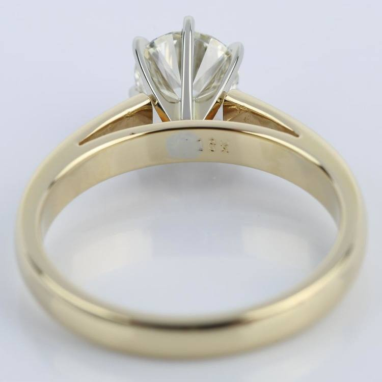 Six-Prong Cathedral Diamond Engagement Ring (0.91 ct.) angle 4