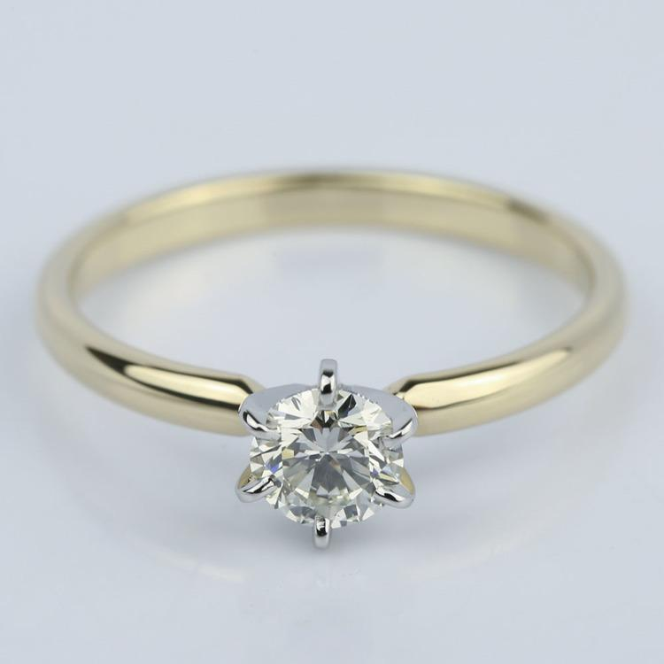 Six-Prong Comfort Fit Round Diamond Engagement Ring (0.40 ct.)
