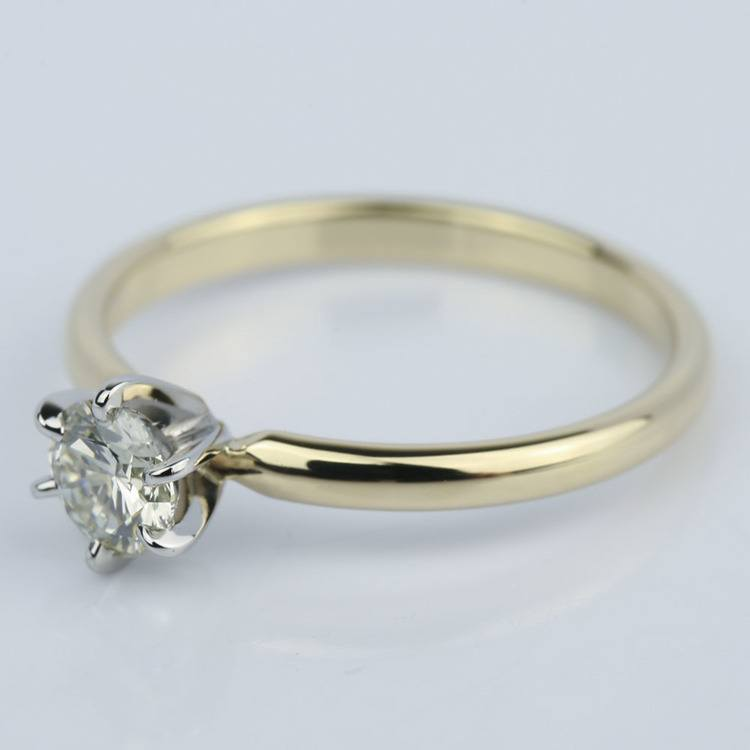 Six-Prong Comfort Fit Round Diamond Engagement Ring (0.40 ct.) angle 2