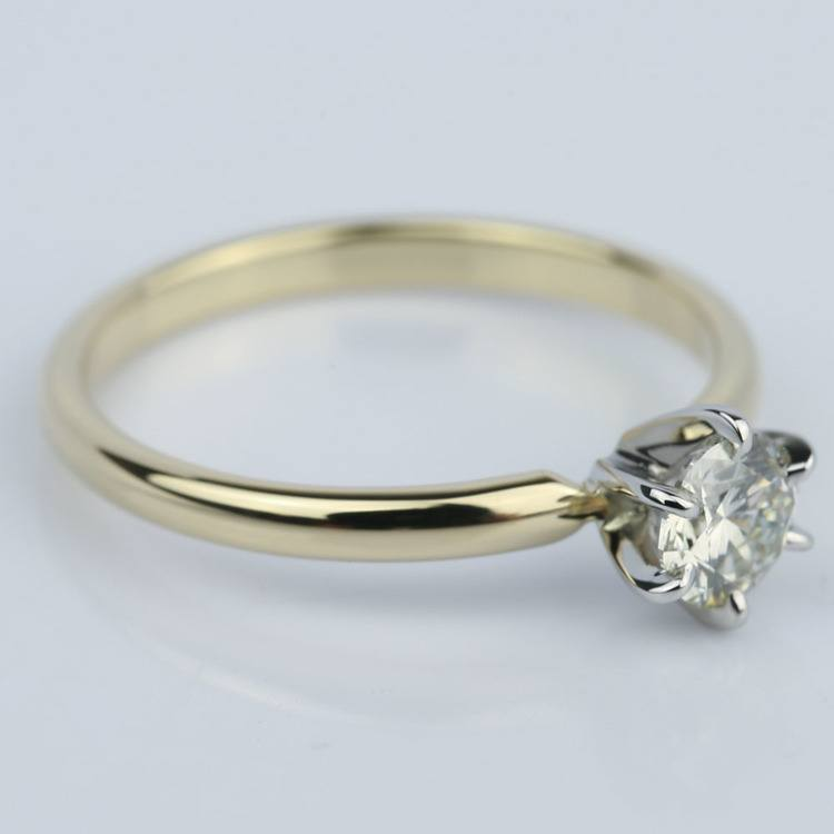 Six-Prong Comfort Fit Round Diamond Engagement Ring (0.40 ct.) angle 3