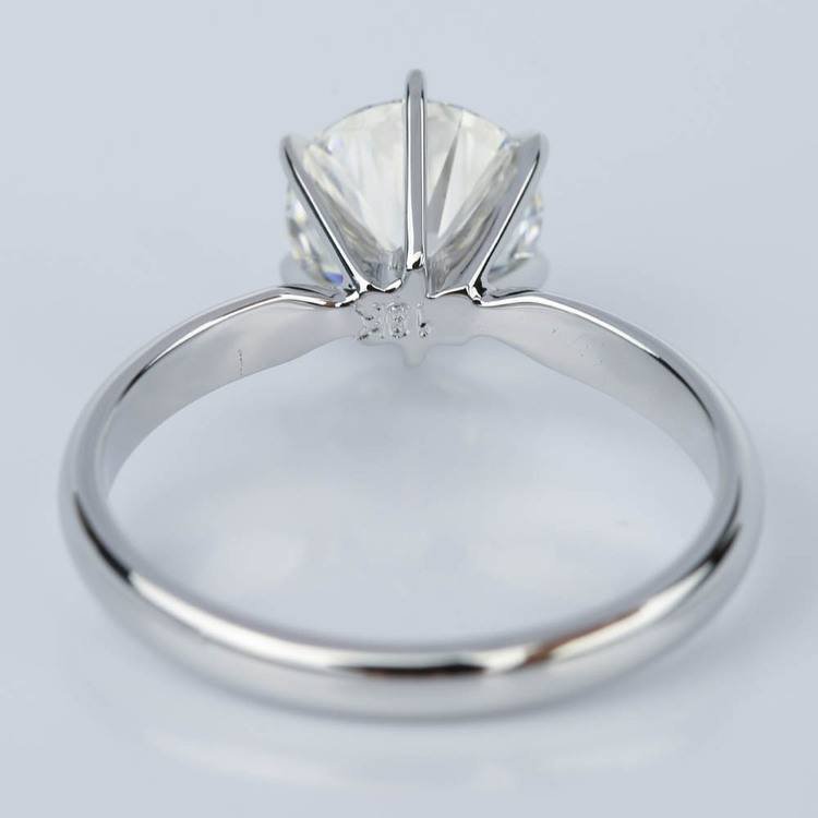 Six Prong Comfort-Fit Solitaire Engagement Ring in White Gold (1.60 ct.) angle 4
