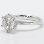 Six-Prong 2 Carat Round Diamond Solitaire Engagement Ring - small angle 2