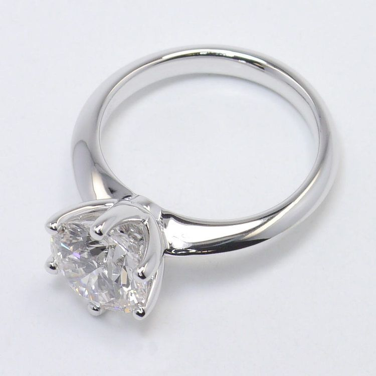 Six-Prong 2 Carat Round Diamond Solitaire Engagement Ring angle 4