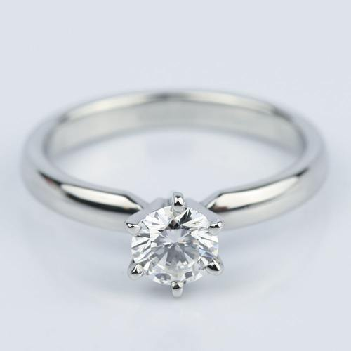 six prong flawless diamond solitaire engagement ring 045 c - Create Your Own Wedding Ring