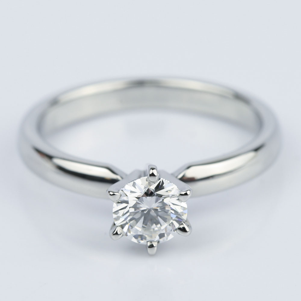 Six-Prong Flawless Diamond Solitaire Engagement Ring (0.45