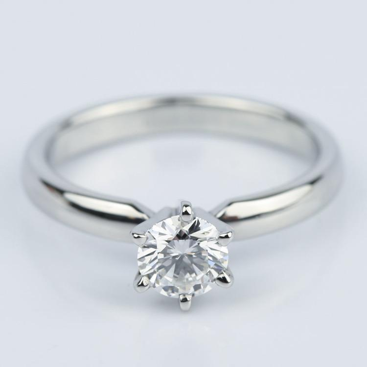 Six-Prong Flawless Diamond Solitaire Engagement Ring (0.45 ct.)