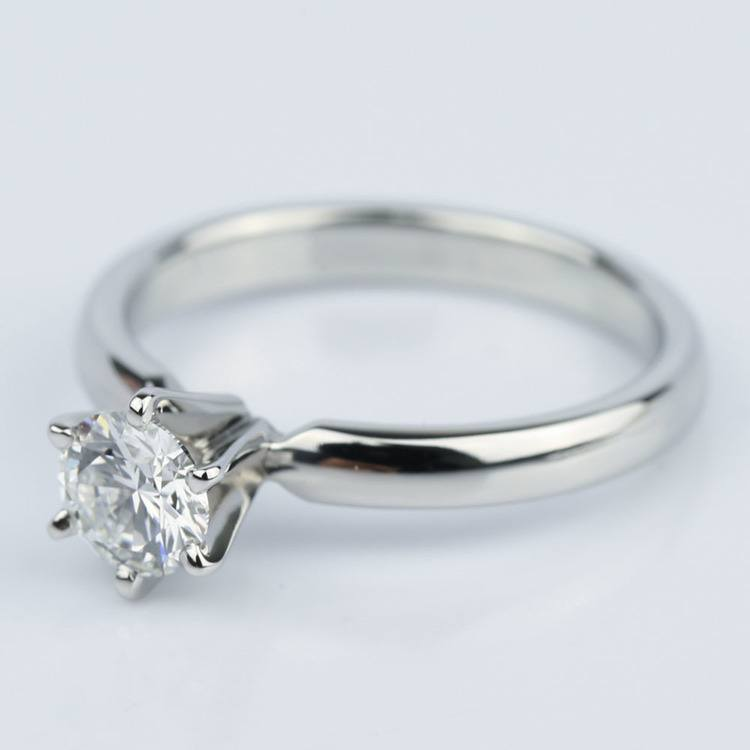 Six-Prong Flawless Diamond Solitaire Engagement Ring (0.45 ct.) angle 2