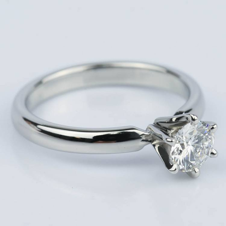 Six-Prong Flawless Diamond Solitaire Engagement Ring (0.45 ct.) angle 3