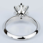 Six-Prong Knife Edge Diamond Engament Ring in Platinum (1.30 ct.) - small angle 4