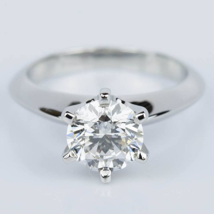 Six-Prong Knife Edge Diamond Engament Ring in Platinum (1.30 ct.)