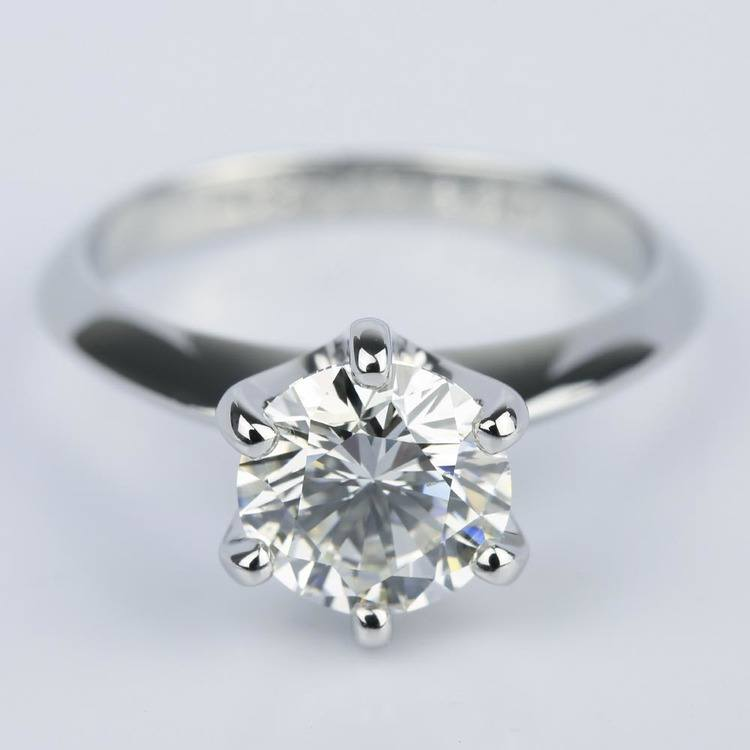 Six-Prong Knife Edge Solitaire Diamond Ring (2 Carat
