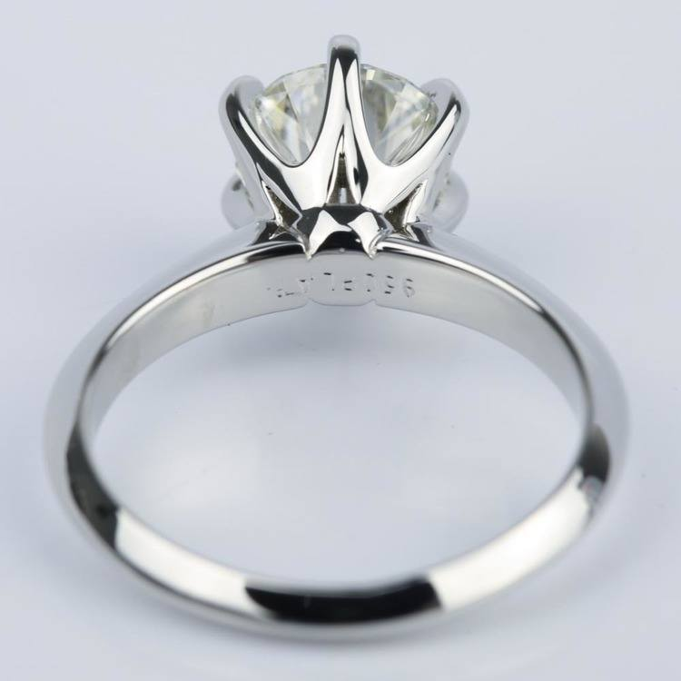 Six Prong Knife Edge Solitaire Diamond Ring 2 Carat