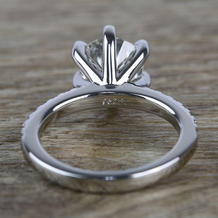 Six Prong Pave Diamond Engagement Ring (1.52 ct.) angle 4