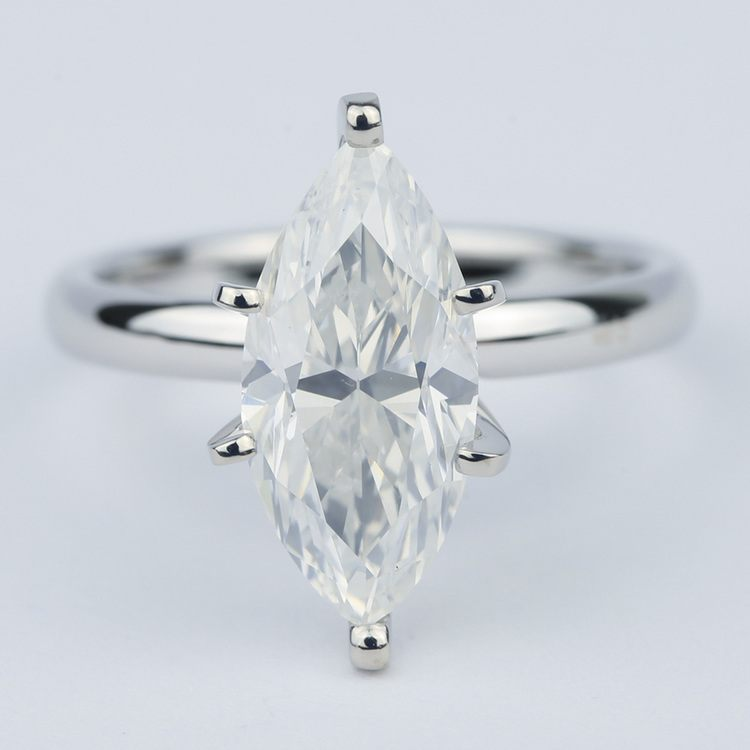 Six-Prong Marquise Diamond Engagement Ring (2.76 Carat)