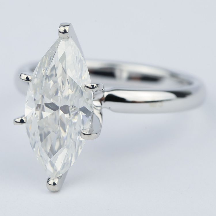 Six-Prong Marquise Diamond Engagement Ring (2.76 Carat) angle 2