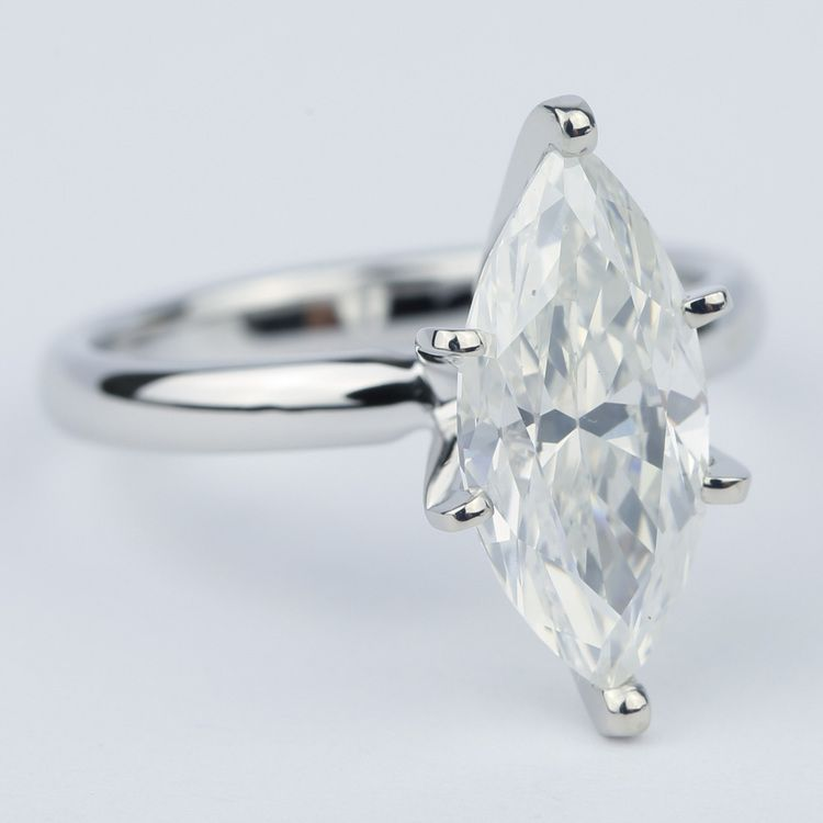 Six-Prong Marquise Diamond Engagement Ring (2.76 Carat) angle 3