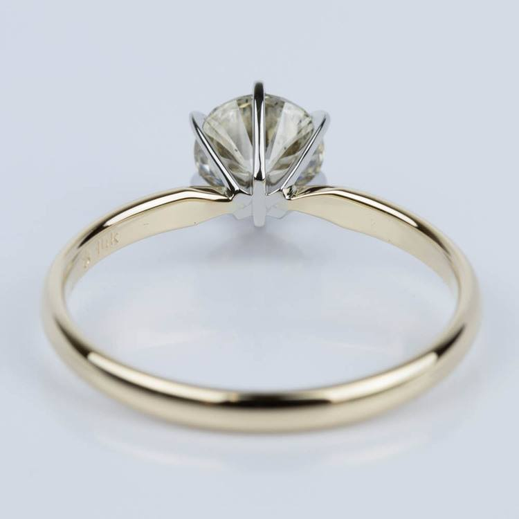 Six-Prong Solitaire Engagement Ring in Yellow Gold (1.50 ct.) angle 4