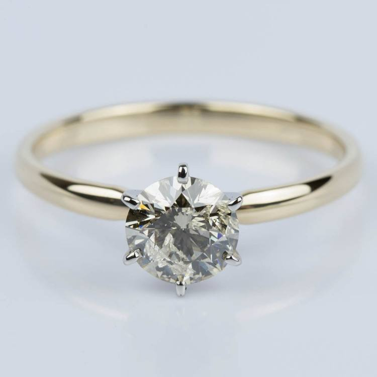 Six-Prong Solitaire Engagement Ring in Yellow Gold (1.50 ct.)