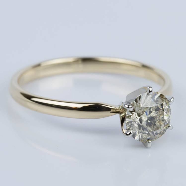 Six-Prong Solitaire Engagement Ring in Yellow Gold (1.50 ct.) angle 3