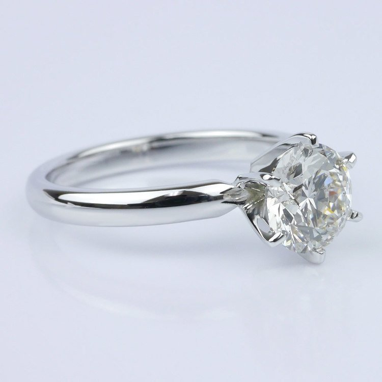 Six-Prong Solitaire Engagement Ring angle 3