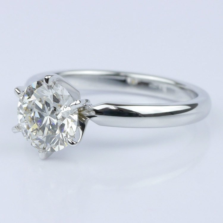 Six-Prong Solitaire Engagement Ring angle 2