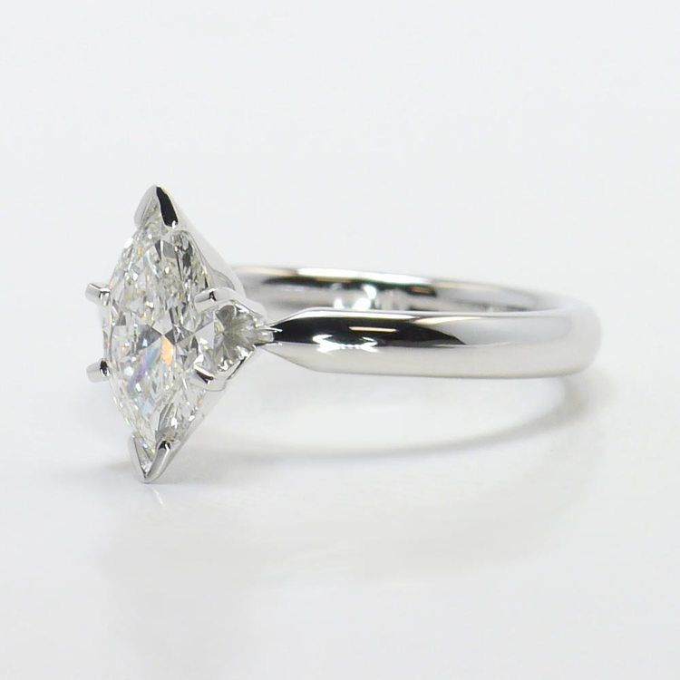 Solitaire 6-Prong 0.74 Carat Marquise Diamond Engagement Ring angle 2