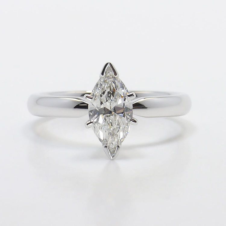 Solitaire 6-Prong 0.74 Carat Marquise Diamond Engagement Ring
