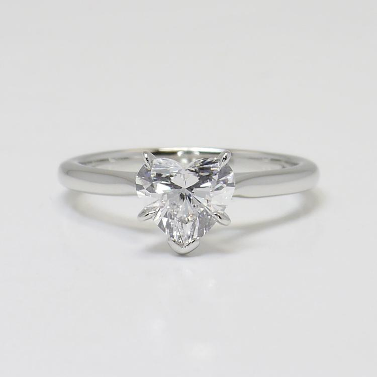 1 Carat Flawless Solitaire Heart Diamond Engagement Ring