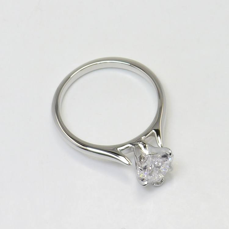 1 Carat Flawless Solitaire Heart Diamond Engagement Ring angle 4