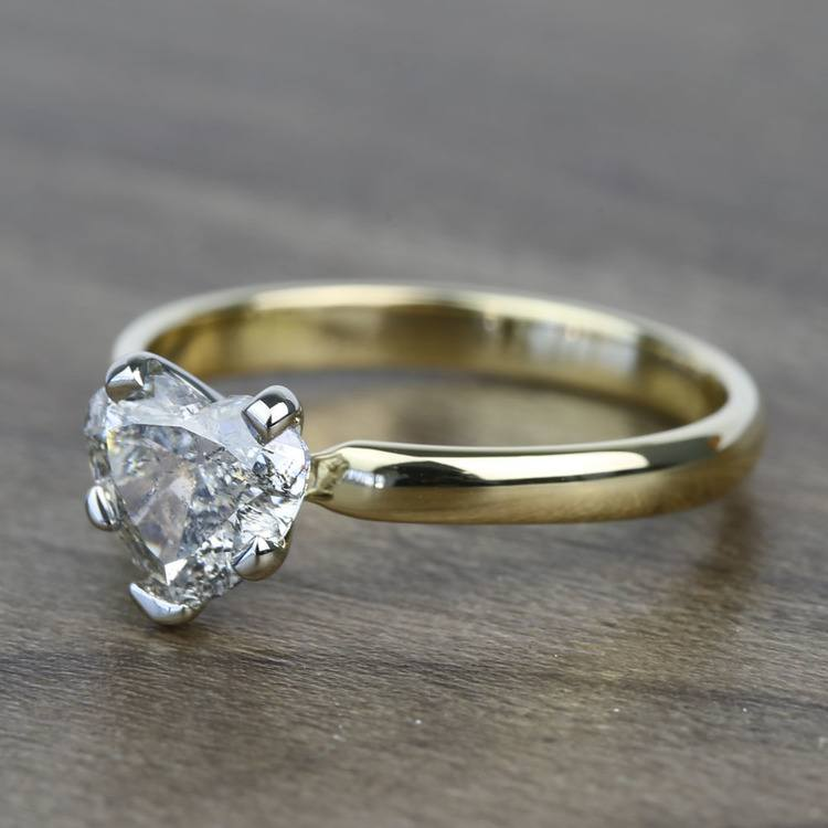 Solitaire 1 Carat Heart Diamond Engagement Ring angle 2