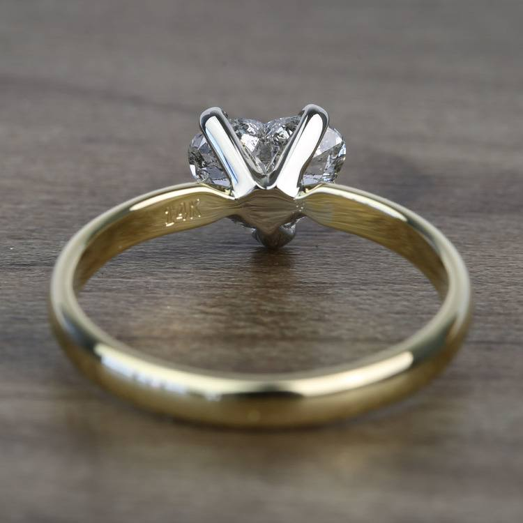 Solitaire 1 Carat Heart Diamond Engagement Ring angle 4