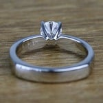 Solitaire Round Loose Diamond Engagement Ring in Platinum - small angle 4