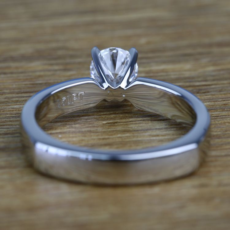 Solitaire Round Loose Diamond Engagement Ring in Platinum angle 4
