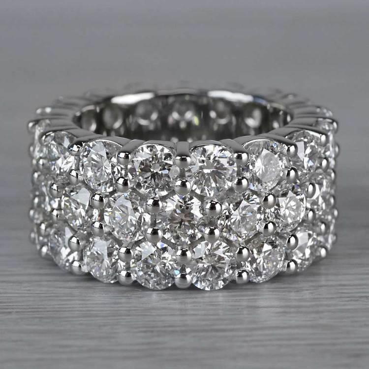 Sparkling 12 Carat Diamond Ring Eternity Band