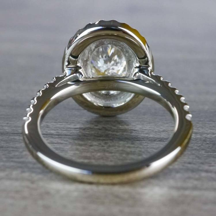 Sparkling Oval Diamond Double Halo Engagement Ring angle 4