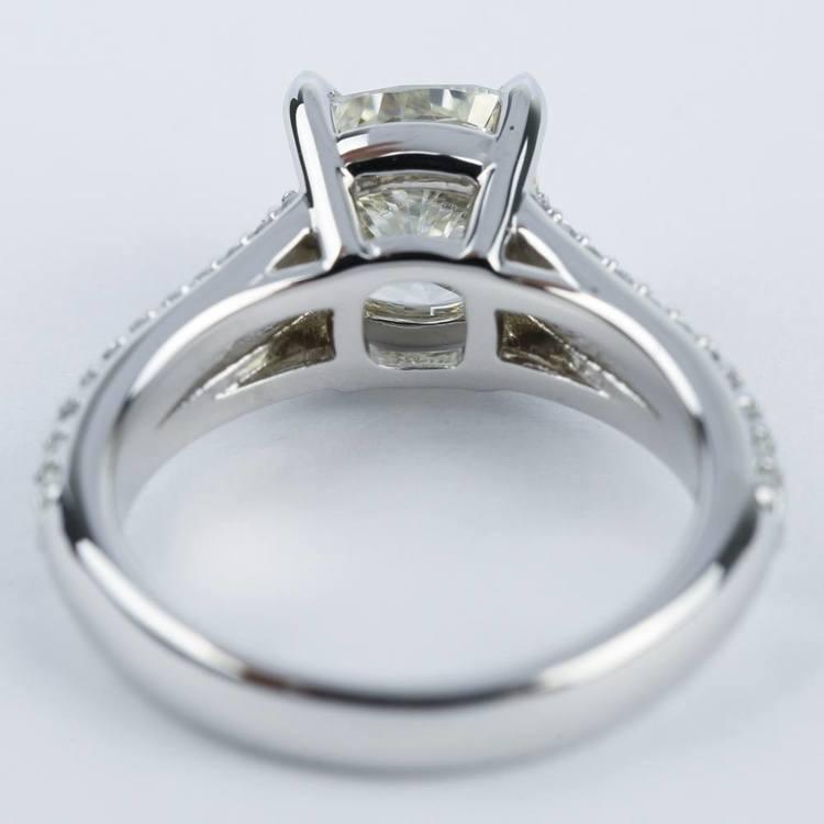 Split Shank Cushion Diamond Engagement Ring (2 Carat) angle 4