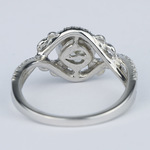 Split Shank Bezel Cushion Diamond Engagement Ring by Parade - small angle 4