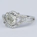 Split Shank Bezel Cushion Diamond Engagement Ring by Parade - small angle 2