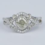 Split Shank Bezel Cushion Diamond Engagement Ring by Parade - small