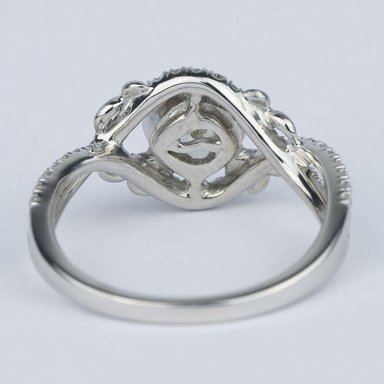 Split Shank Bezel Cushion Diamond Engagement Ring by Parade angle 4