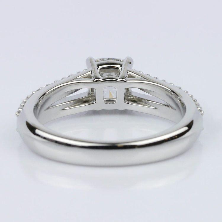 Split Shank Cushion Engagement Ring (1.01 ct.) angle 4