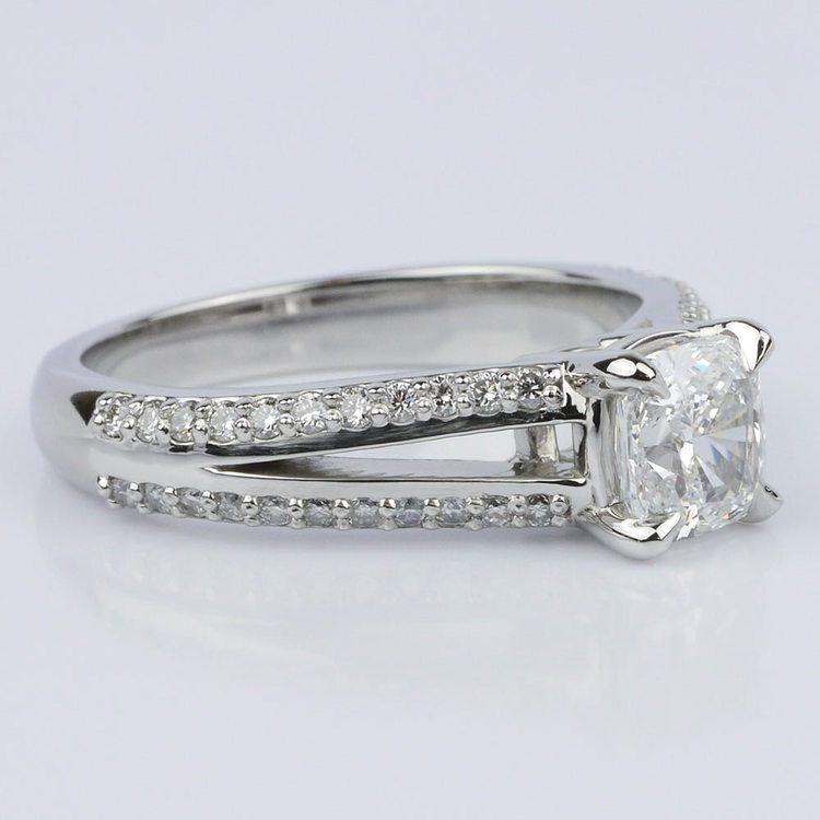 Split Shank Cushion Engagement Ring (1.01 ct.) angle 3