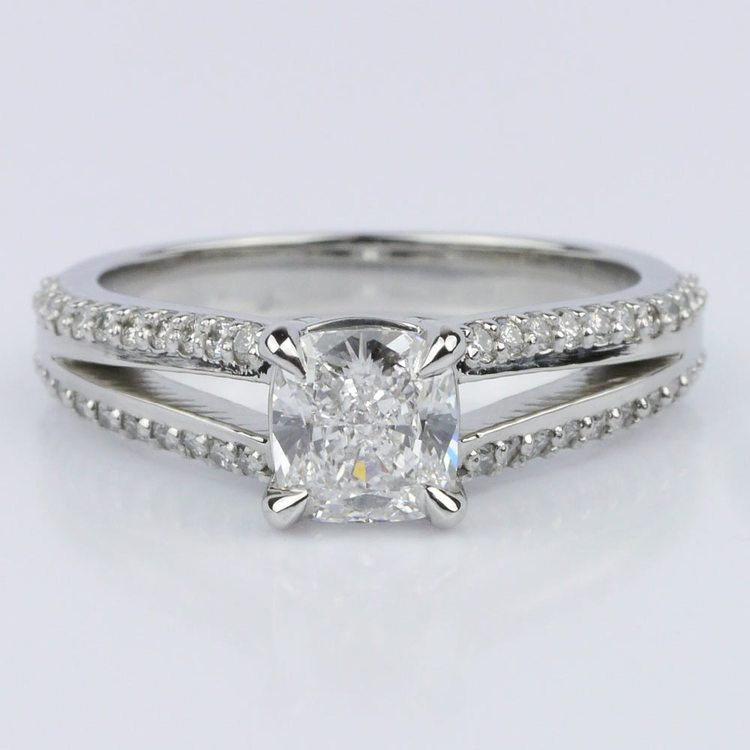 Split Shank Cushion Engagement Ring (1.01 ct.)
