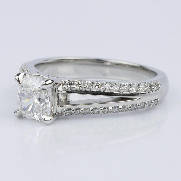 Split Shank Cushion Engagement Ring (1.01 ct.) angle 2