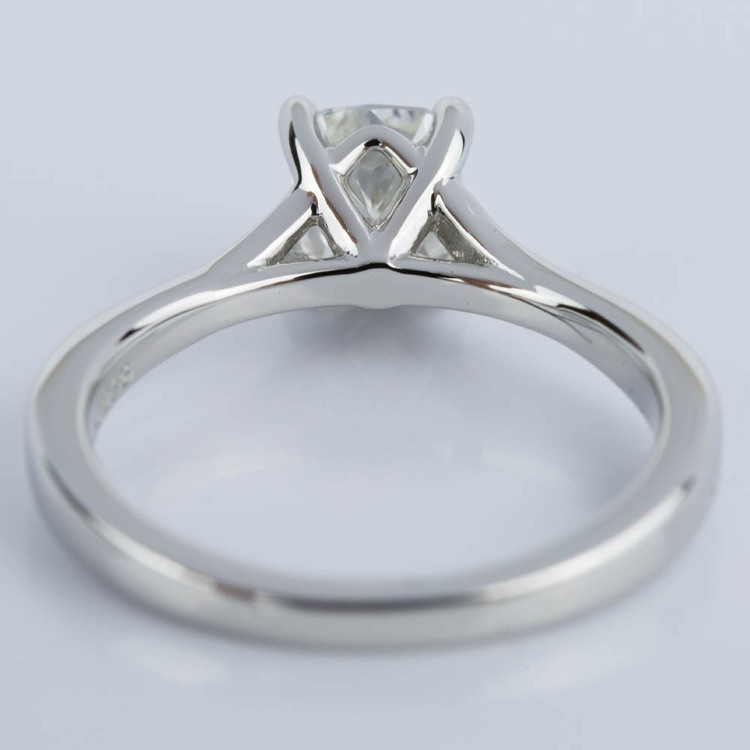 Split Shank Cushion Micropave Diamond Ring in Platinum (1.20 ct.) angle 4