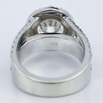 Split Shank Diamond Bridge 2.40 Carat Round Halo Engagement Ring - small angle 4