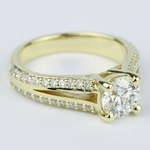 Split Shank Ring Setting with Super Ideal Round Diamond - small angle 3