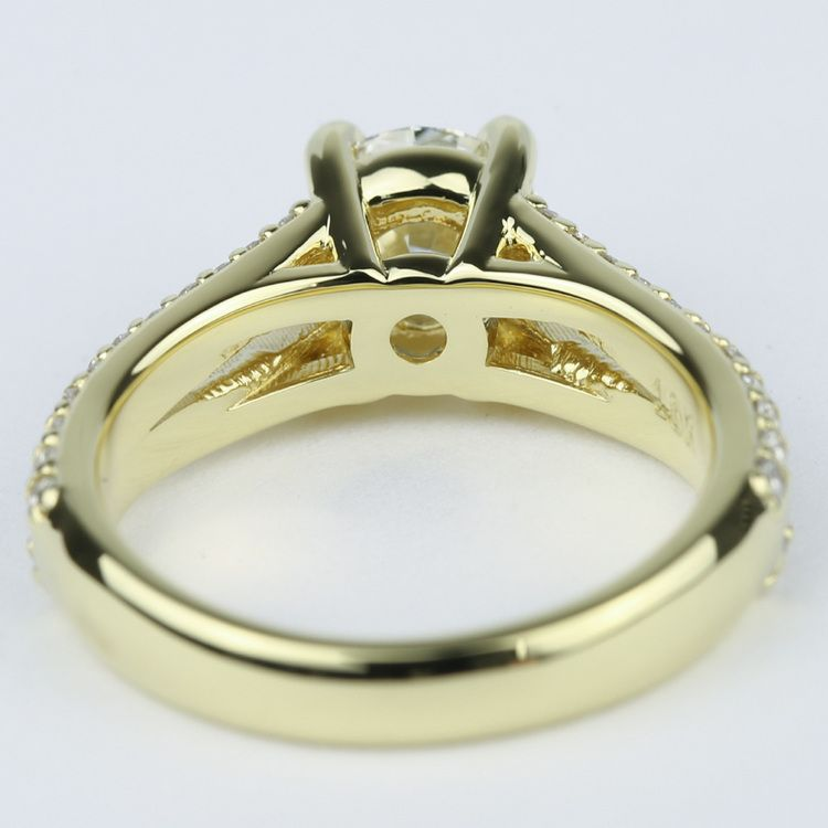 Split Shank Ring Setting with Super Ideal Round Diamond angle 4