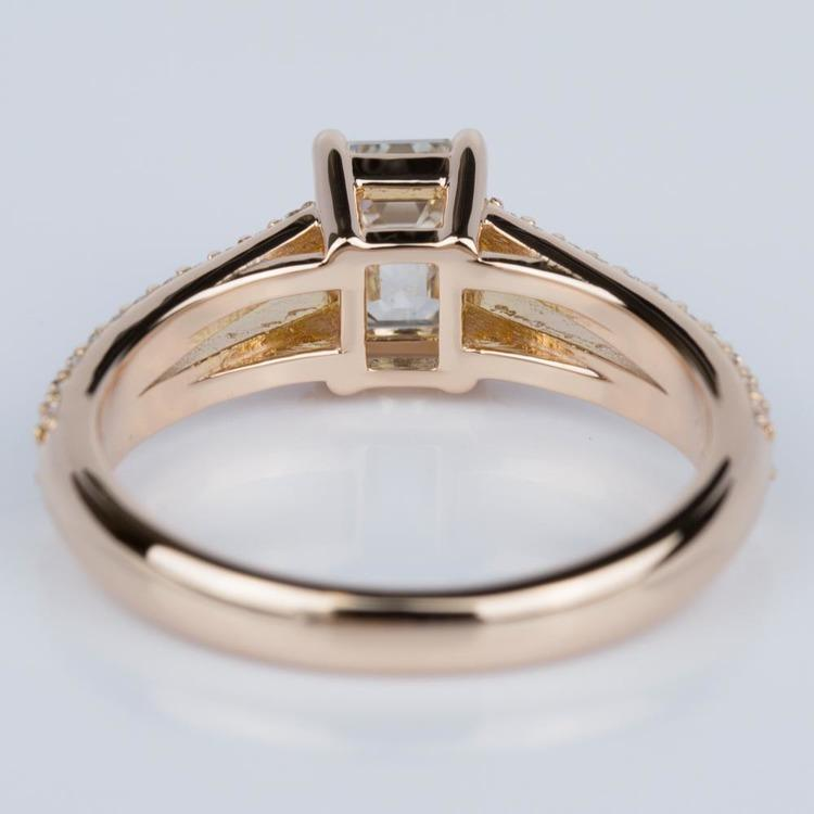 Split Shank Diamond Engagement Ring in Rose Gold (1.20 ct.) angle 4