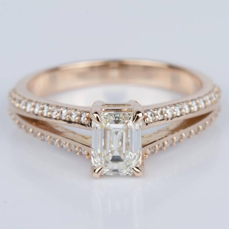 Split Shank Diamond Engagement Ring in Rose Gold (1.20 ct.)